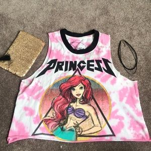 Disney Princess Ariel Crop Top l Choker l Bag